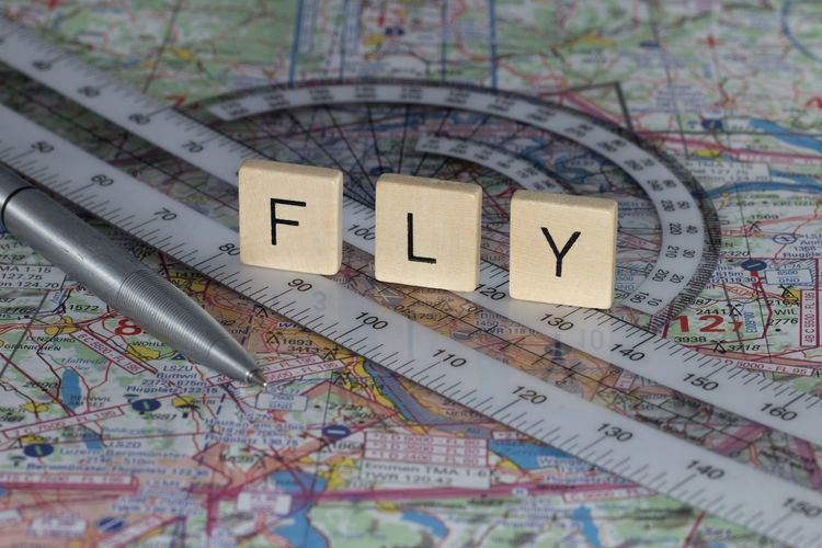Flight planning equipment on map Flight School Map Aircraft Airplane Charts Close-up Flight Flight Training Center License Map Navigation Navigational Equipment No People Pen Pilot Planning Route School Sectionals Training Travel