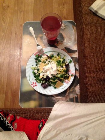 Eating Food Salat Home Food Hungry Yammy!!