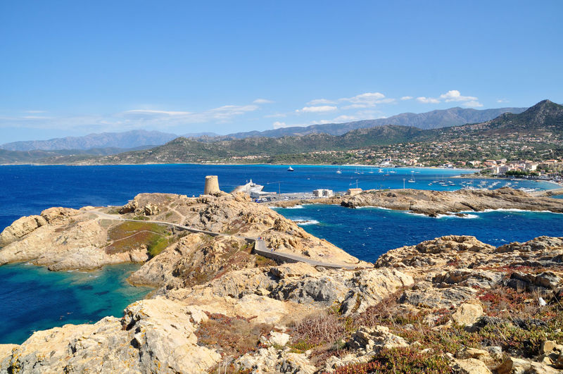 l'Ile-Rousse Beach Corsica Cultures Day Ile De La Pietra Mountain Mountain Range No People Outdoors Scenics Sea Sky Tour L'Ile-Rousse