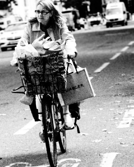 Two wheels loaded! Transportation Bike Oxford Scenes Cycling Street Observation University City Sight Street Photography Black And White Photography Ride Mode Of Transport Urban Bicycle