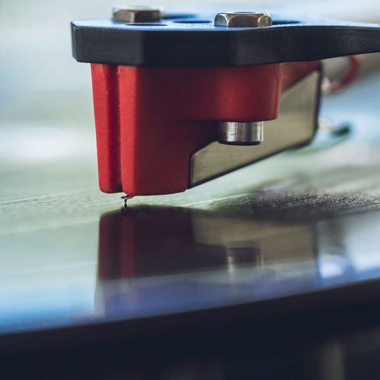 Close-Up Of Record Player