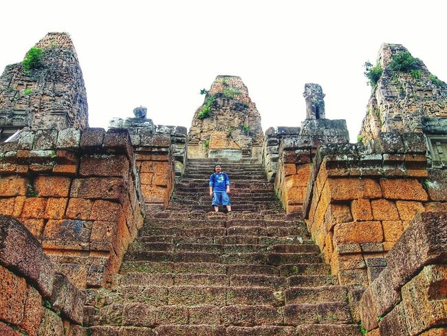 Built Structure Wall - Building Feature Architecture Full Length Leisure Activity Lifestyles Steps Casual Clothing Old Ruin Stone Material Tourism Travel Destinations The Past History Sky Day Cloud - Sky Outdoors Moving Up Ancient