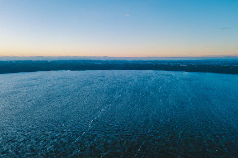 Waves Aerial Shot Drone  Kaunas Lagoon Beauty In Nature Blue Clear Sky Day Europe Idyllic Mavic Mavic Pro Nature No People Outdoors Remote Rippled Scenics Sea Sky Sunset Tranquil Scene Tranquility View Into Land Water Waterfront