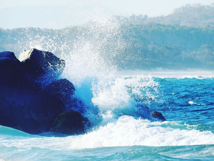 Noosa Noosa Main Beach Wave Sea Hitting Force Power In Nature Motion Crashing Water Beauty In Nature Splashing Nature Waterfront Day Outdoors Australia Sydney Nikon EyeEmNewHere