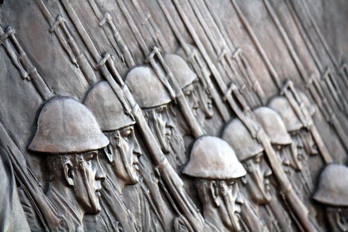 Just marching through Statue Morristown Nj World War 1