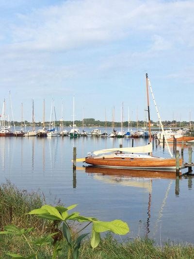 Schlei Schleswig-Holstein Beauty In Nature Day Harbor Mast Mode Of Transport Moored Nature Nautical Vessel No People Outdoors Reflection Sailboat Sky Tranquility Transportation Water Yacht