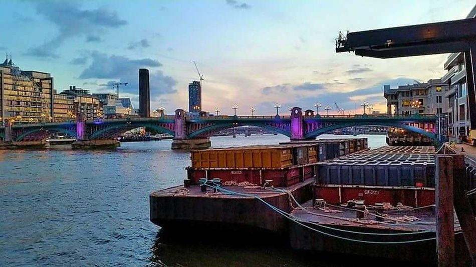 London Thames River Side Postcode Postcards