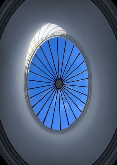 Eye in the sky Photography Photo Design Sky Light Window EyeEmNewHere EyeEm Nature Lover EyeEm Best Shots Eye In The Sky Eye No Clouds Sky Blue Sky Blue Circle Architecture Built Structure Window Low Angle View Indoors  Day Pattern No People Modern Architectural Design Dome Concentric Close-up