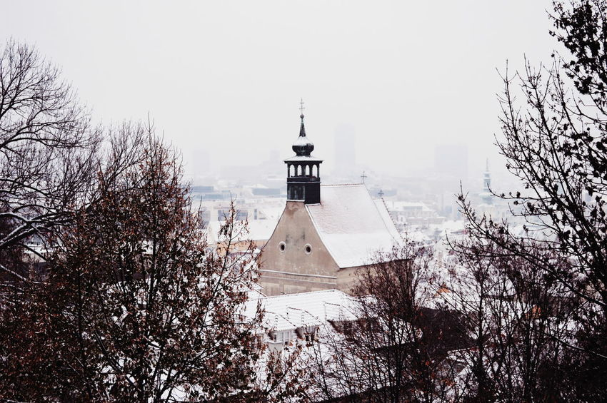 City Cityscape Skyline Point Of View Snow Snowcovered Architecture Sky Place Of Worship Historic Temple Temple - Building Spirituality Religion Church Christianity Catholicism