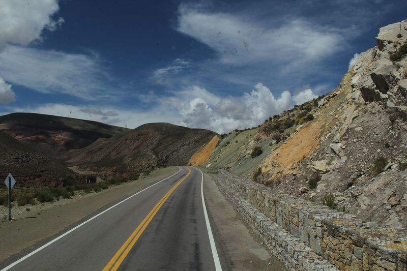#Jujuy #Argentina Be. Ready. Beauty In Nature Day Dividing Line Landscape Mountain Mountain Range Nature No People Outdoors Road Road Marking Scenics Sky The Way Forward Tranquil Scene Tranquility Transportation White Line
