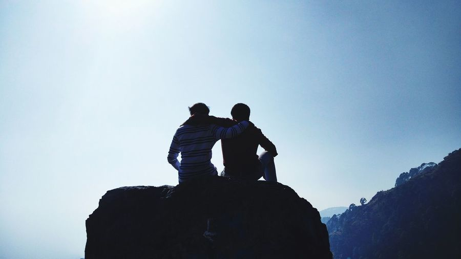 Friends forever Two People Silhouette People Adult Togetherness Day Sky Outdoors An Eye For Travel