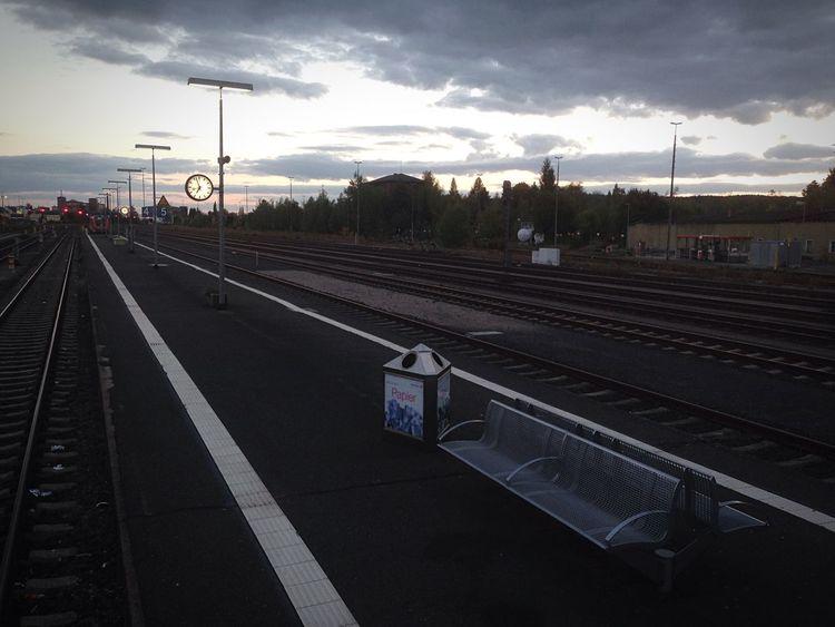 Bhf Weiden Bahn Bahnhof Bahnsteig