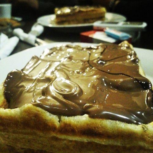 Orgasme culinaire Gauffre Nutella