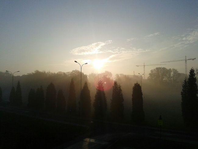 Sunset Windowview Taking Photos Morning Nofilter
