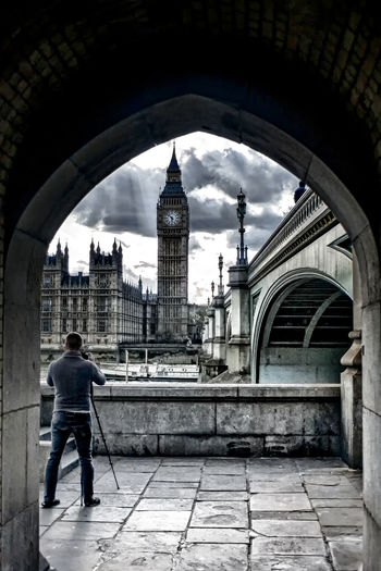 That Westminster Shot Arch Architecture Building Building Exterior Built Structure Capital Cities  Casual Clothing City City Life Cityscape Cloud Cloud - Sky Day Full Length Leisure Activity Lifestyles Photographer Sky Tourism Travel Destinations Westminster View