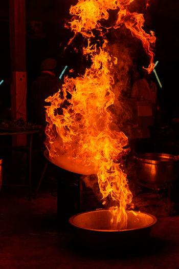 Fire flames in