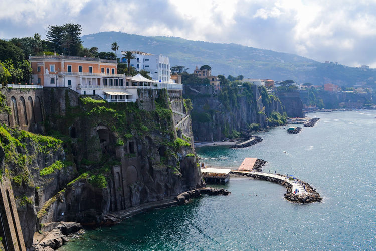 Coastline Architecture Beauty In Nature Building Building Exterior Built Structure Cloud - Sky Day Land Mountain Nature No People Outdoors Residential District Scenics - Nature Sea Sky Sorrento Sorrentocoast Travel Travel Destinations Tree Water