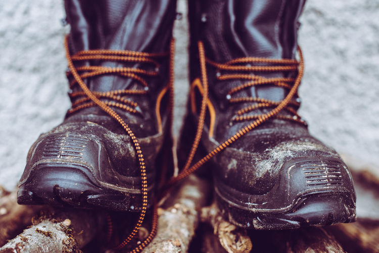Woodcutter boots italian alps