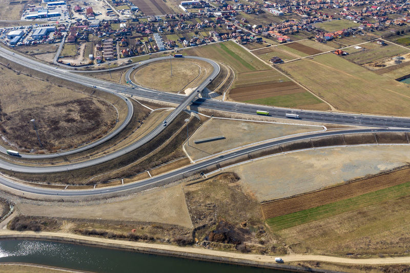 Aerial view of highway intersection, drone shot Road Transportation High Angle View Aerial View Day Architecture City Highway Highways&Freeways Highwayphotography Road Travel Intersection Highway Intersection Drone  Drone Photography Droneshot Cityscape Aerial Aerial Photography Aerial Shot Romania Infrastructure Overpass Motorway