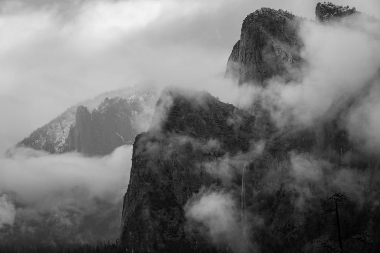 mountains in the fog Mountain Fog Scenics - Nature Environment Beauty In Nature Nature Land Tranquil Scene Mountain Range Landscape Outdoors Black & White Monochrome California My Best Photo