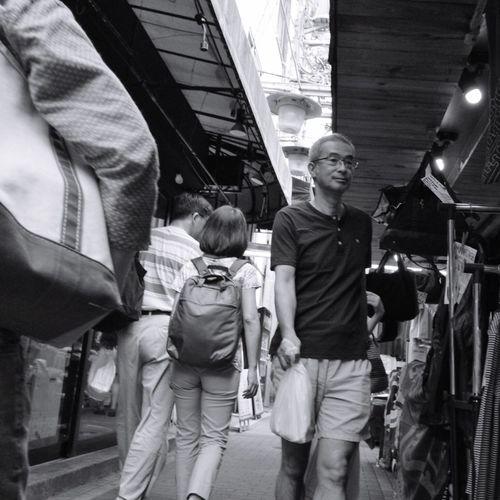 Casual Clothing City Life Crowd Street Streetphotography_bw B&w Street Photography CityWalk People On The Road Snapshot City Street at ハモニカ横丁 Kichijoji 吉祥寺 , Tokyo Japan