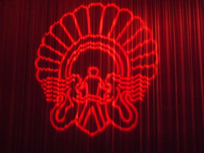 Film Festival San Sebastian's International Film Festival Black Background Festival Illuminated Indoors  Lighting Equipment No People Red Studio Shot