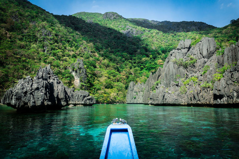 Going to the Paradise Palawan Limestone Boat Elnido Beachphotography Landscape Nautical Vessel Tree