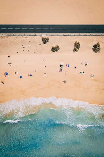 Beach Aerial Summer View Above Vacation Blue Sea Travel Water Sand Coastline Ocean Coast Tourism Holiday Shore Landscape Background Turquoise People Tropical Nature Top Drone  Island Destination Tourists Exotic Sky Color Sun Colorful Waves Crowd Sunbathing Umbrellas Canary Islands Fuerteventura Summertime Holidays Paradise Lifestyles SPAIN Vibes Beautiful Over Day Outdoors High Angle View My Best Photo