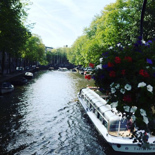 Hollantreetphotography] Amesterdam River Boats Flowers Hello World Eye4photography  EyeEmBestPics EyeEm Best Shots