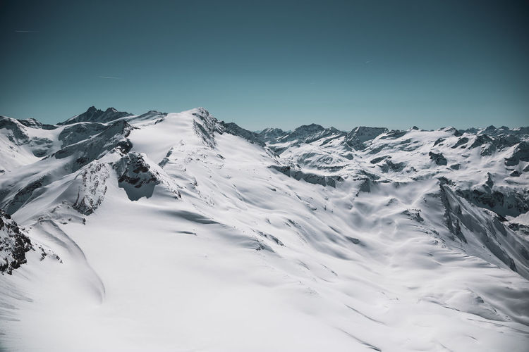 Winter Snow Cold Temperature Sky Mountain Beauty In Nature Scenics - Nature Tranquil Scene Tranquility Snowcapped Mountain Non-urban Scene Nature Clear Sky Environment Day Mountain Range White Color Landscape No People Mountain Peak Kitzsteinhorn My Best Photo