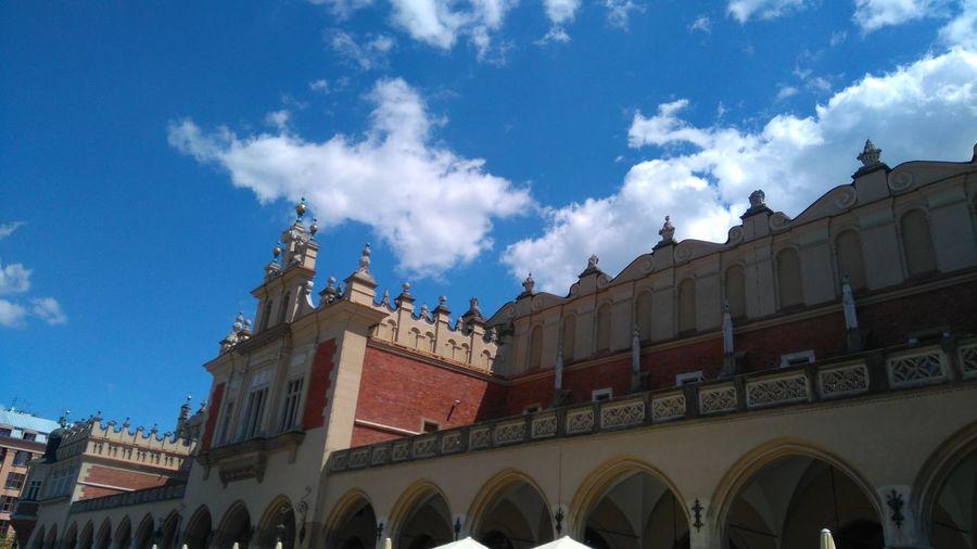 Krakow Cracow Sukiennice City Center Rynek Main Market Square Market Square Blue Sky Clouds Poland Polska The Architect - 2016 EyeEm Awards