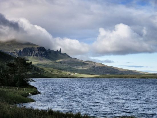 Cloudscape Coastline Highlands Isle Of Skye Mountains Ocean Old Man Of Storr Scotland Skye