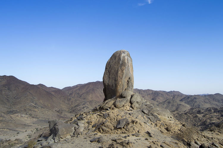 German Stick . One Of the rock Climbing Destination. Its Bolted Rock for climbers Sky Beauty In Nature Scenics - Nature Tranquil Scene Clear Sky Tranquility Mountain Nature Environment Landscape Rock Blue Non-urban Scene Copy Space Rock Formation Land No People Rock - Object Solid Day Mountain Range Arid Climate Outdoors Climate Formation