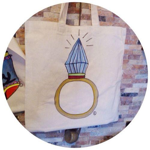 Shopping bag Diamond on sale on my shop Depop  Shoppingbag Illustration bag onepiece forsale