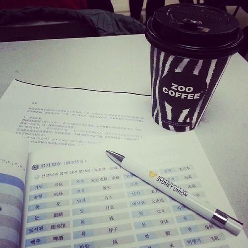 second day!! fighting~ BLCU Language Study Korean student coffee zoocoffee University Beijing Chinese instamood instalife
