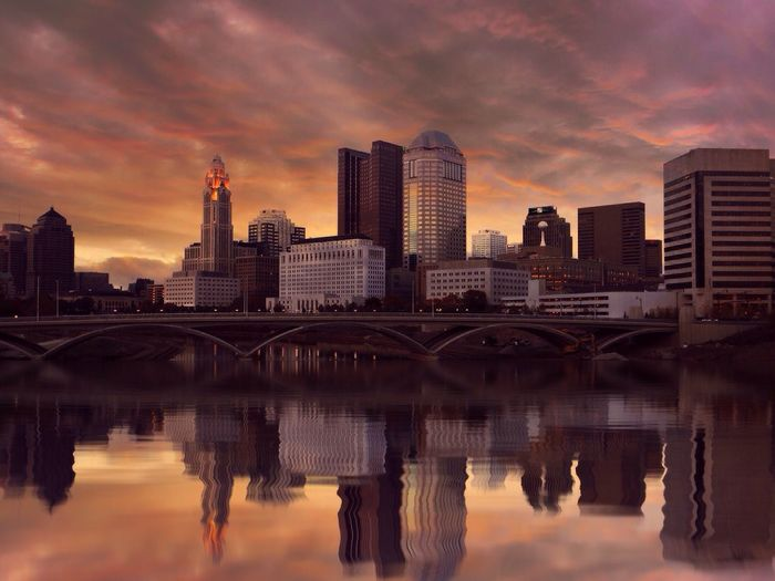 Sunset Cityscapes City Reflection Water Reflections IPSSkies IPS2015Reflect