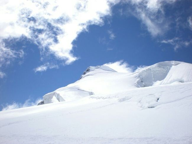 Mountains Clouds And Sky Ortler