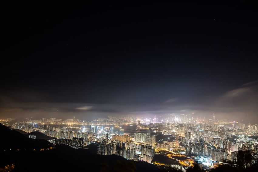 HongKong Kowloon Peak Kowloon Nightphotography Night Cityscapes My Country In A Photo