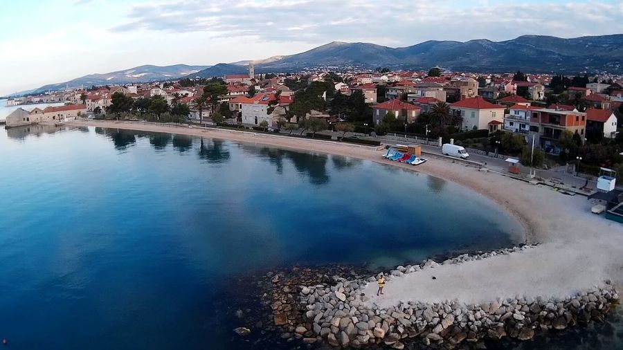 Beach In The Morning Beach Sea Adriatic Sea Adriatic Coast Kastel Novi Split Croatia Jadranskomore Aerial View Tranquility Kastela Blue Sea Reflections In The Water Aerial Shot Croatia Seaside Aerial Photography The Innovator That's Me :) Selfie ✌