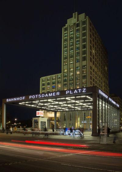 Architecture Urban Long Exposure Potsdamer Platz Berlin