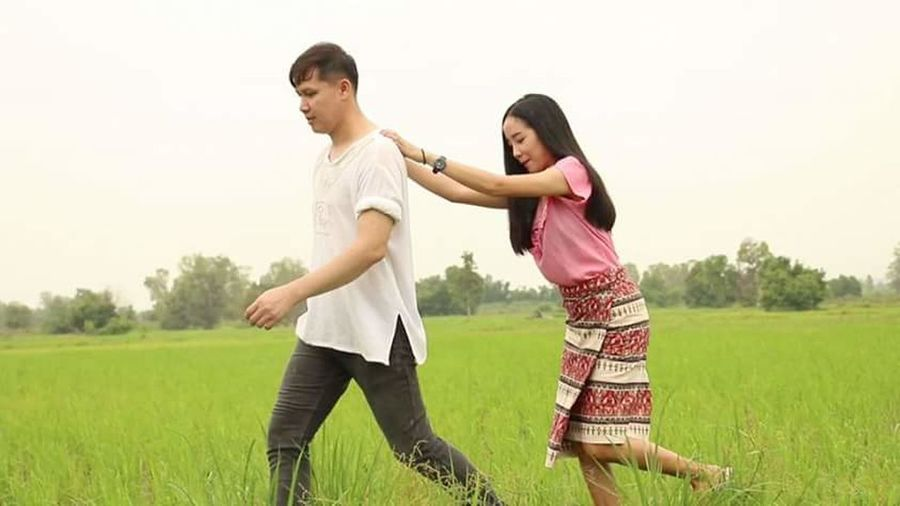 Live For The Story Field Grass Child Adult Standing People Togetherness Rural Scene Casual Clothing Nature Family With One Child Girls Leisure Activity Day Friendship Outdoors Childhood Happiness Tree Sky EyeEmNewHere