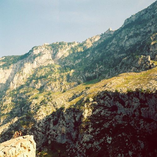 Mountain Scenics Landscape Tranquility Physical Geography Travel Destinations Tourism Geology Nature Sunlight Clear Sky Mountain Range Beauty In Nature Remote Asturias SPAIN Larutadelcares First Eyeem Photo 120 Film Kodak Portra
