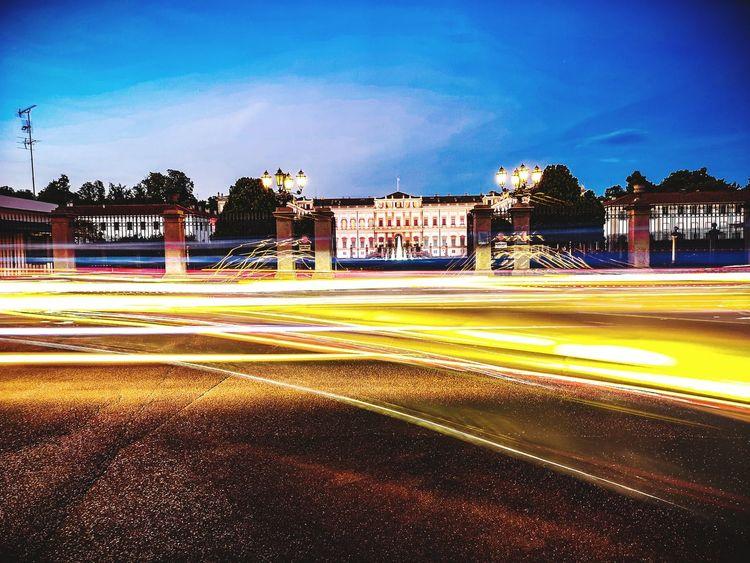 Villa Reale Monza Sky Street Villa Reale Monza Parco Streetphotography Luci Blue Lights Light Trails