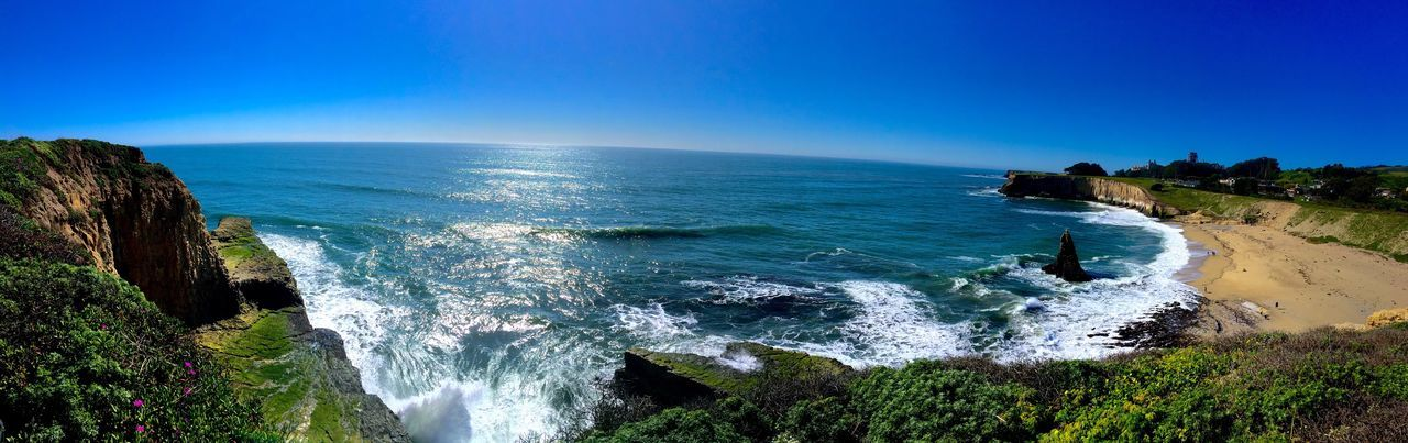 😎📷 Davenport  California Paradise Panoramic Taking Photos Ocean View Cliffs Beach Sunny Day Check This Out Beautiful Showcase March