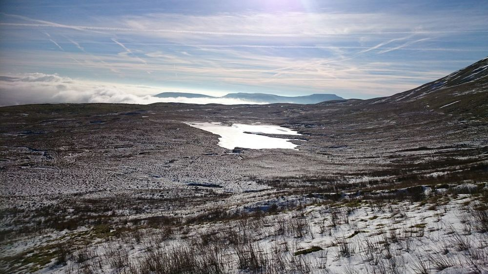 Frozen lake at Whernside Frozen Frozen Lake Nature Snow Snowing Snowy Yorkshire Yorkshire Three Peaks Beauty In Nature View Hill Mountain