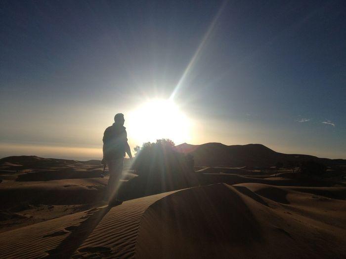 Men in desert