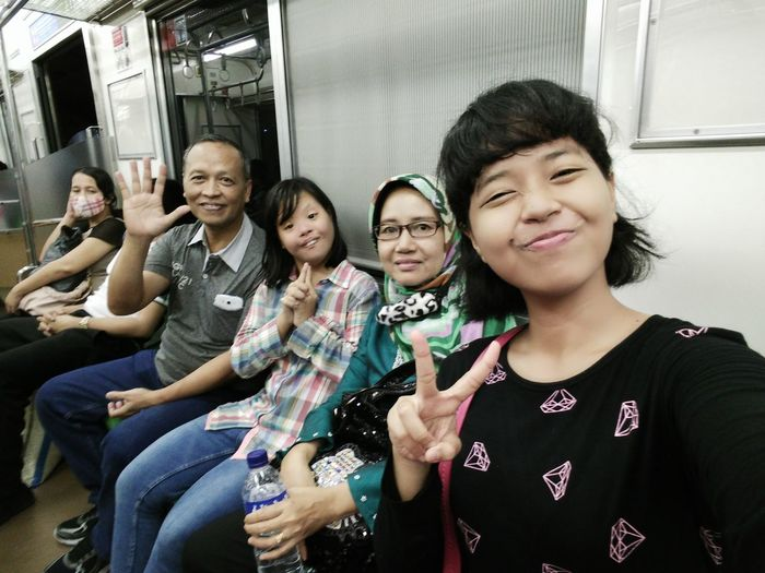 They are my beloved family, love you mother :* love you lil sister :* and love you father :* . I promise make you proud of me :') Jakarta Trainstation Jakartakota Komuterline Iamonvacation Happyholiday Qualitytimewithfamily Latepost