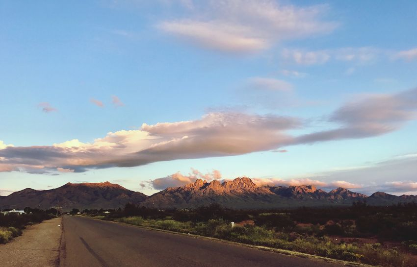 Road Countryside Landscape Sky Mountains Organ Mountains