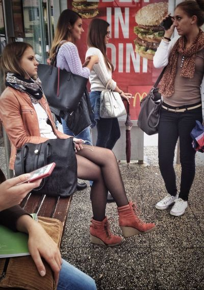 Streetphotography IPhoneography Waiting For The Bus The Street Photographer - 2015 EyeEm Awards