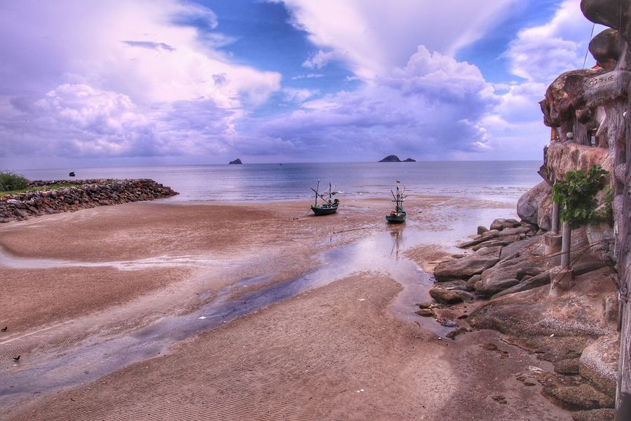 Khao tao beach , Hua hin, Thailand Travel Thailand Thailand Beach Hua Hin Hua Hin , Thailand  Khao Tao Water Sea Beach Land Sky Cloud - Sky Sand Holiday Outdoors Beauty In Nature First Eyeem Photo My Best Travel Photo